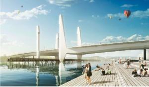 Byggstart för nya bron planerad till 2015 för att stå klar 2020. Illustration ur planhandlingarna (Mattias Henningsson-Jönsson)