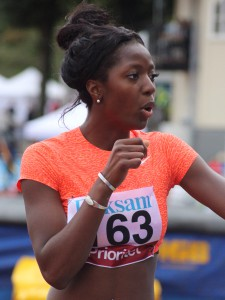 Khaddia Sagnia började med tresteg, men nu är hon längdhoppare i världsklass.