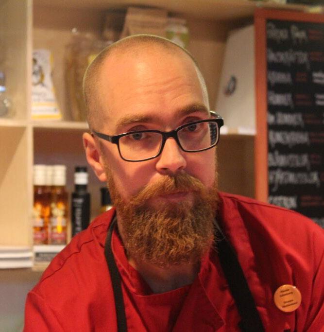 Jonas Wickstrand, tredje generationen som ägare till Öckerö Fisk i Feskekôrka. Foto: Raymond Ståhl