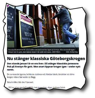 Från GP.se 28 december. Artikeln publicerades även i pappersupplagan.