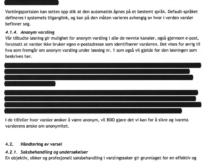 Kommunen försökte mörka BDO:s förslag om hur offentlighetsprincipen skulle kringgås...  Klicka för att förstota texten)