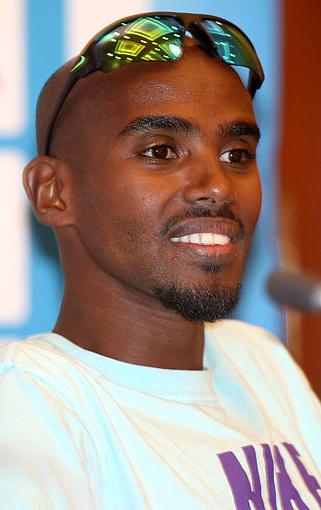 Mo Farah, OS-guldmedlajör. Foto: Vinod Divakaran