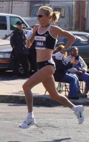 Paula Radcliffe, snabbaste kvinnliga maratonlöparen. Foto: Ed Costello