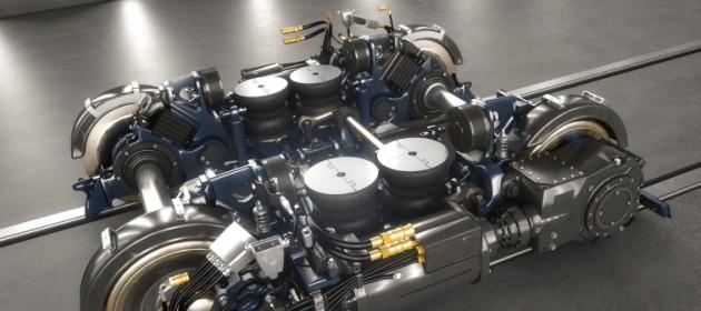 Bombardiers boggiekostruktion hänger med i svängarna. Foto: Bombardier