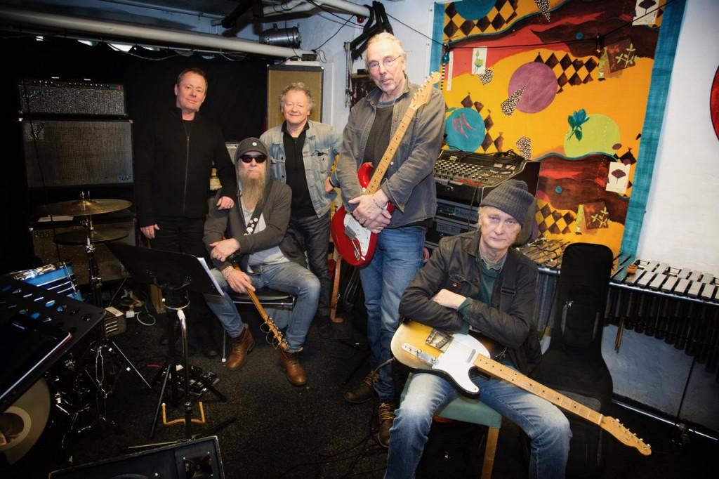 Från vänster Per Melin, Nikke Ström, Bernt Andersson, Tomas Forssell och Bengt Blomgren