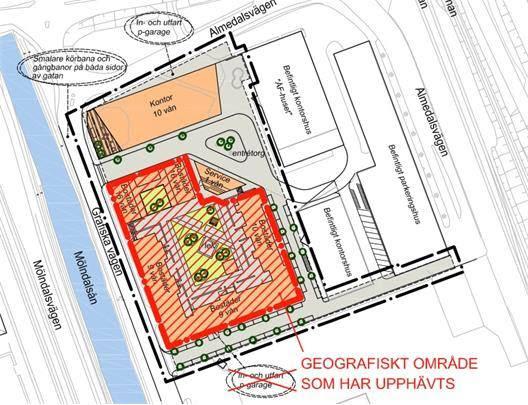 Bostadsområdet som kanske inte blir verklighet. Klicka på kartan för att förstora den!