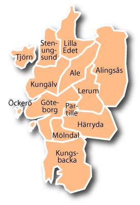Göteborgsregionen - det är i detta stora område det förmodligen bor en miljon.