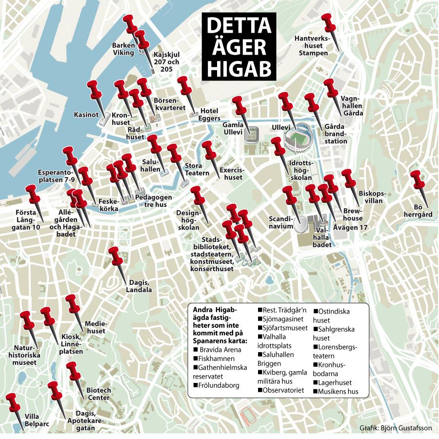 brewhouse göteborg karta Spanaren granskar Higab – Göteborgs omstridda fastighetsgigant  brewhouse göteborg karta
