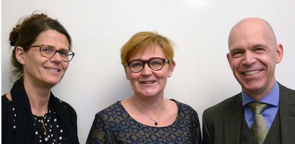 Anna Aspegren, Kerstin Alnebratt och Magnus Hedenskog, utredare. Foto: Maria Bång