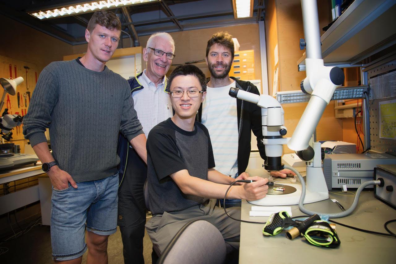 Forskarteam: Johan Högstrand, Roger Johansson, Szhav Lai och Dan Kuylenstierna