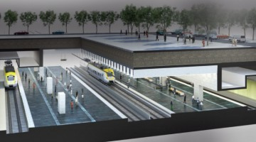 Bilden: Visionsbild av planerade underjordiska centralstationen