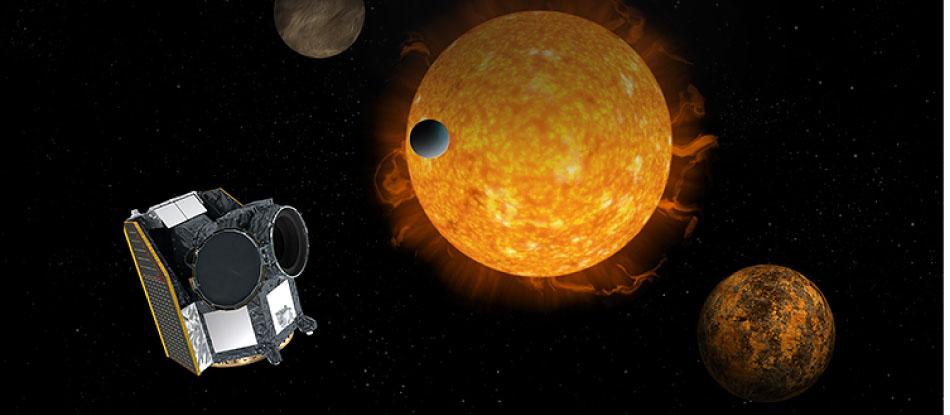 En exoplanet passerar framför sin sol
