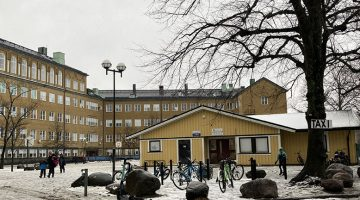 Översikt över Kungsladugårdsskolans skolgård