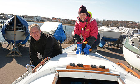 Båtputs på Lilla Blå