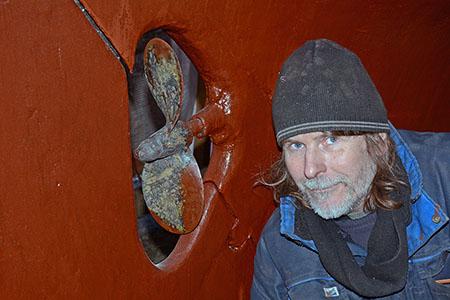 Propeller på Hallberg-båt