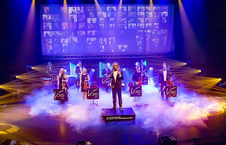 Musiker på scen och skärm